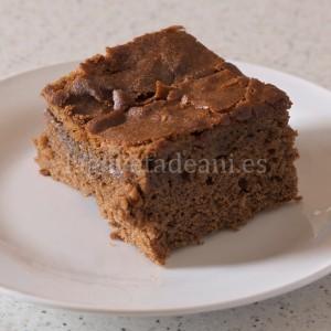 Brownie de Platano. Porción